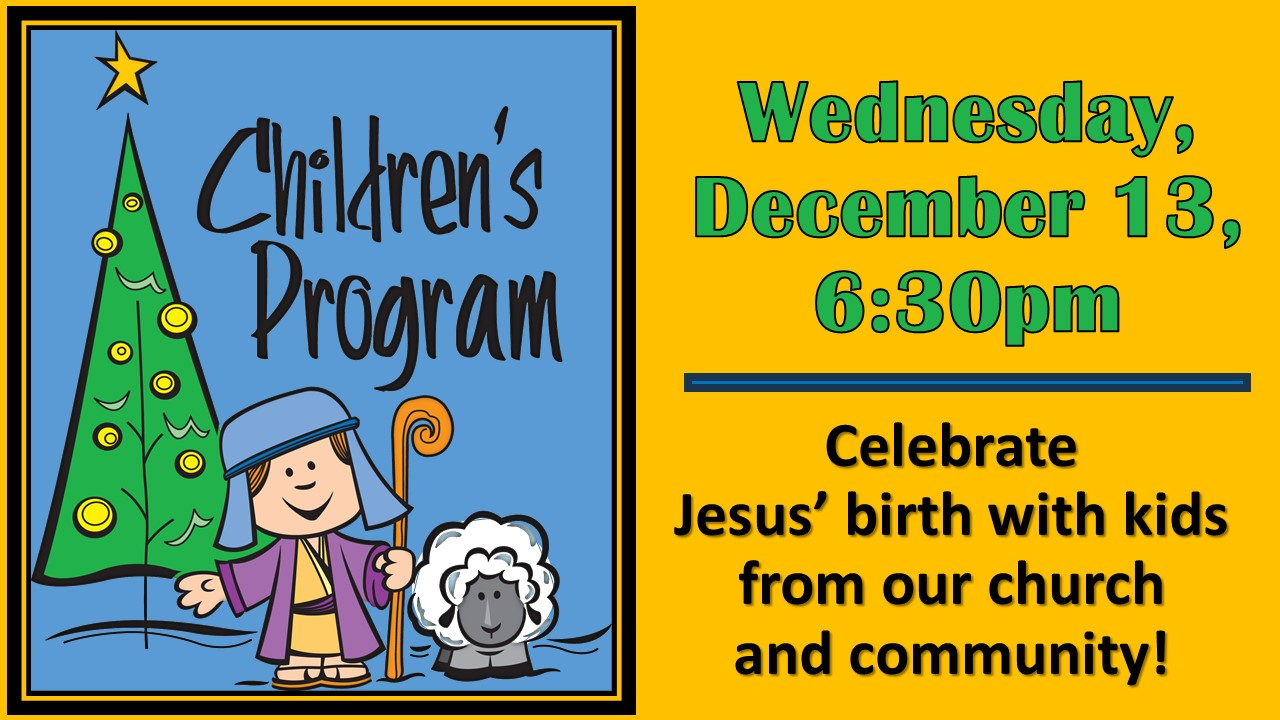 Children\'s Christmas Program – Lake City