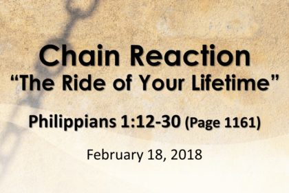 "February 18, 2018 - ""Chain Breaker - The Ride of Your Lifetime"""