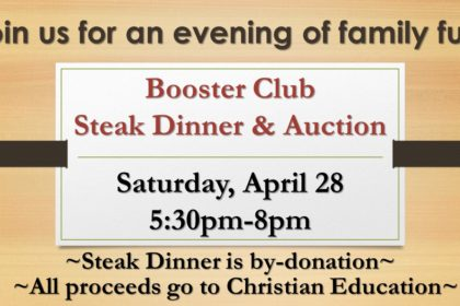 Booster Club Steak Dinner & Auction