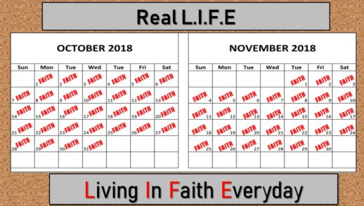 October 7, 2018 Faith is. . .