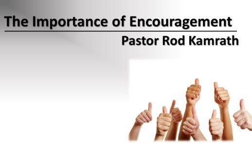 August 30, 2020 The Importance of Encouragement