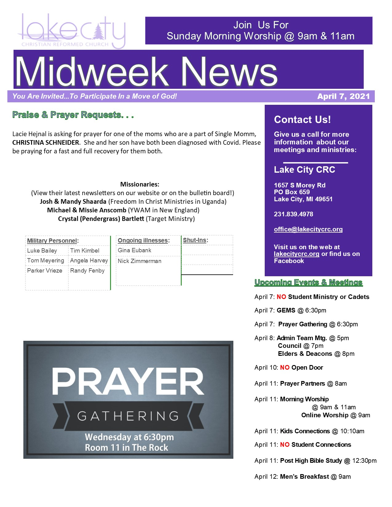 April 7, 2021 Mid-WeekNews